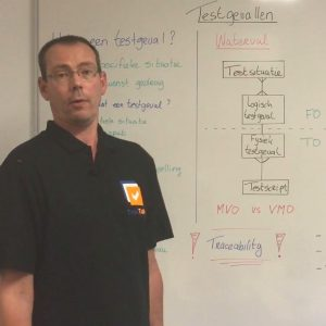 Whiteboard over testgevallen